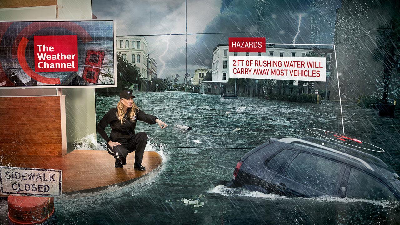 Weather Channel Realidad Mixta Inundacion