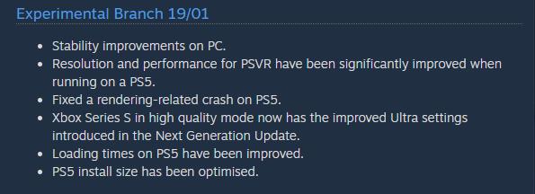 Mejoras NMS PSVR PS5