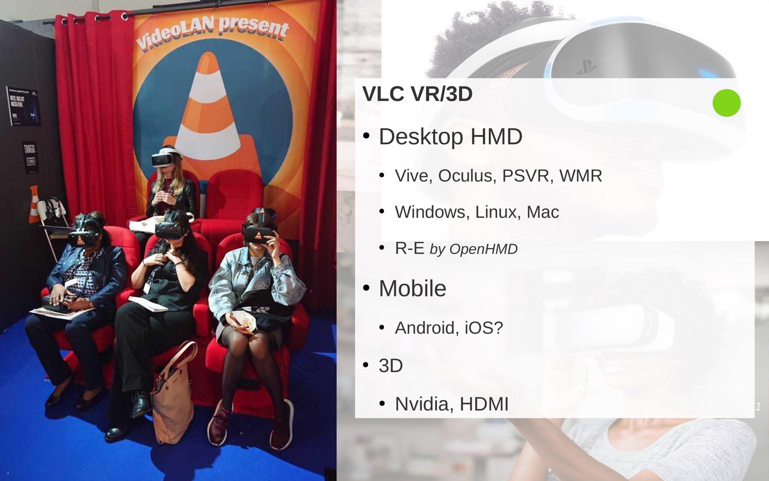 VLC 4.0 para visores VR