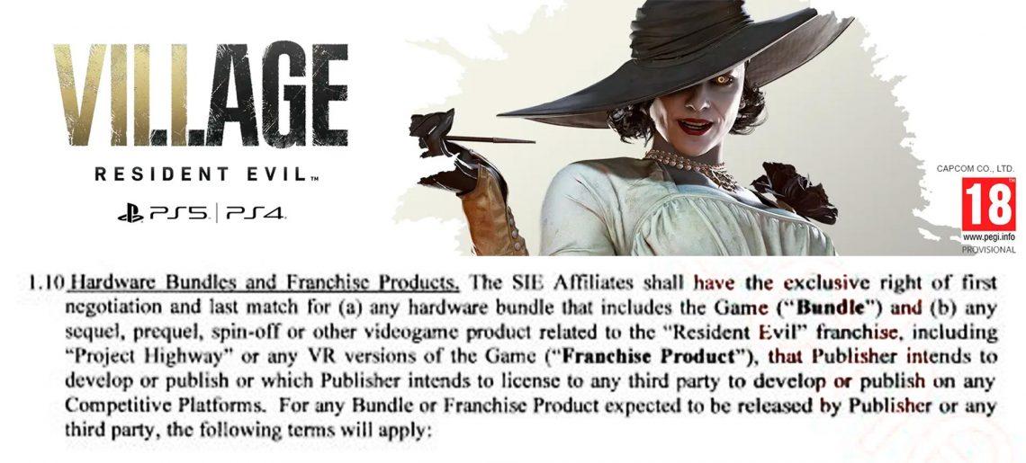 Resident Evil Village contrato filtrado
